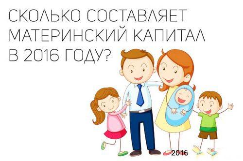 Материнский капитал 2016г